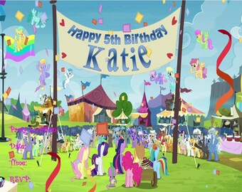 My Little Pony Celebration Invitation