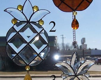 Pineapple stained glass sun catchers