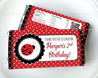 Ladybug Party, Ladybug Chocolate, Ladybird, Candy Wrapper, Lady Bug, Lady Bird, Ladybug Printables, ladybug party favors, aldi, hershey