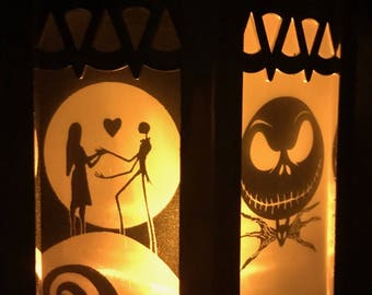 Disney The Nightmare Before Christmas Inspired Battery-Operated Plastic Lantern