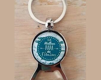 Keychain bottle opener best Dad in the universe