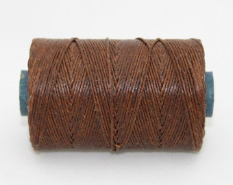 Waxed Irish Linen Thread Walnut Brown 4 Ply