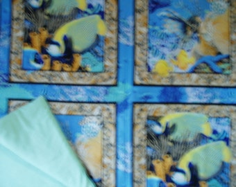 Exotic Fish Throw Quilt\/Blanket
