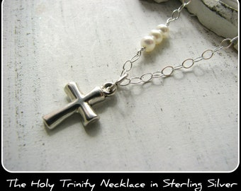 Small Cross Necklace - Customer Favorite Sterling Silver - Christmas Gift Bridesmaids Bride Wife Girlfriend Fiance Daughter