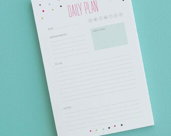 Daily Plan Note Pad | Daily Planner | Day Planner Notepad | Organizational Tools | FAST SHIPPING!