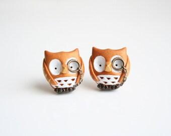 Owl stud earrings, Albert the Owl