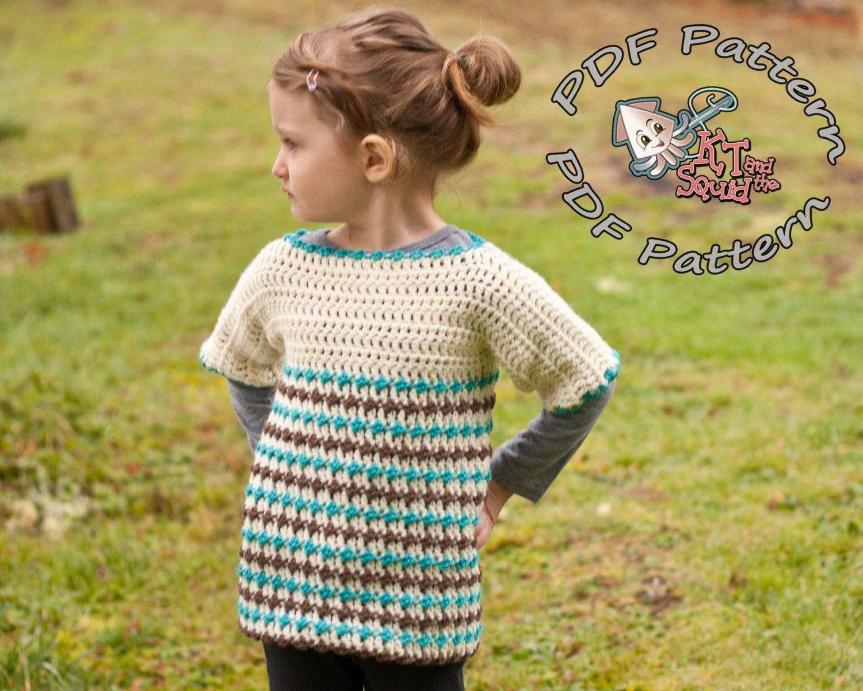 Girls crochet tunic pattern crochet sweater pattern crochet zoom bankloansurffo Images