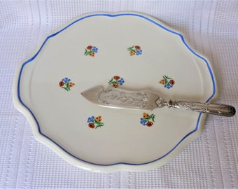 Old cake Dish / Cake Dish / Dinnerware / Table Decor / French Dinnerware / Serving Dish / Table Gift / French country decorative plates.