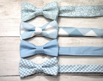 Boys easter bow tie, blue easter bow tie, toddler easter outfit, dusty blue bow tie, boys blue bow tie, bow ties for boys, little boy bowtie