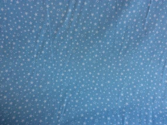 High quality cotton poplin, baby blue stars