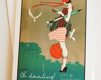 greeting card / blank card / note card / stationary / art deco