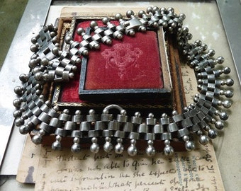 Antique French Victorian Book Chain Necklace, offered by RusticGypsyCreations
