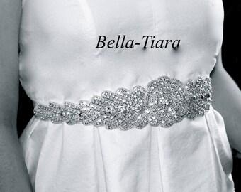 Crystal rhinestone bridal belt, bridal sash, wedding sashes, wedding belt, crystal wedding sash, rhinestone wedding sash