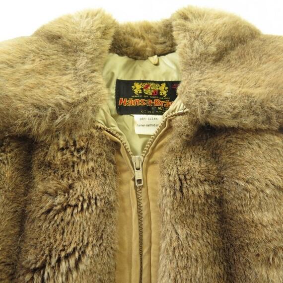 Fur Nordic 3 Faux 8 Womens Vintage Goose Down Fill 70s Winter Coat Arctic Fur I02G Puffy M Down CqqZOw5H