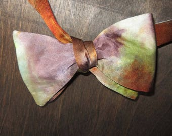 Earthy Hand Dyed Silk Bow Tie