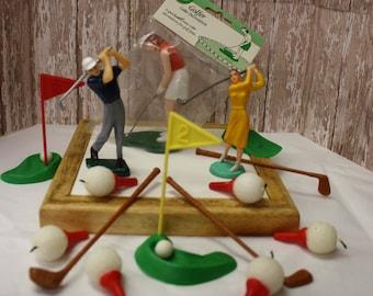Vintage Golf Cake Decorating Set