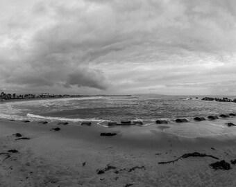Venice Breakwater,Black and White,Venice Beach,High Quality Print,Premium Lustre