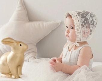Baby transparent lace bonnets/hat