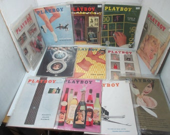 PLAYBOY Magazine 12 Issues Entire Year January thru December 1958