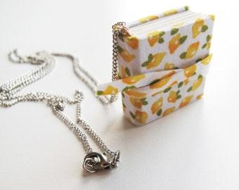 Mini Lemon Notebook Necklace