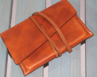 Bespoke Leather Clutch Pouch