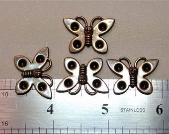 E-110 Antique Gold Butterflies