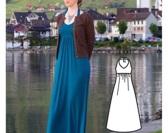 Maxi Womens Dress Pattern - Dress Sewing Pattern - Ladies dress pattern - Halter Maxi Dress sewing pattern