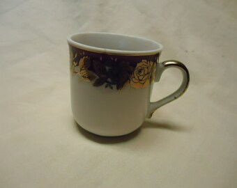 Vintage Porcelain Tanaka Tea Cup, Made in Japan, collectable