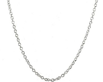 Sterling Silver 2mm Rolo Chain 32 inch Necklace with Lobster Clasp, Belcher Rollo Necklace, Long Chain