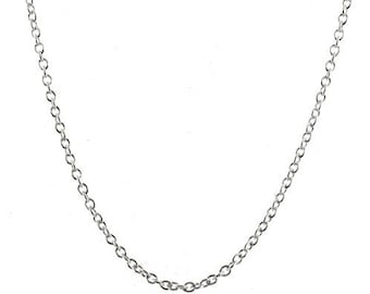 30 inch Rolo Belcher Chain Necklace Sterling Silver 2mm Links with Lobster Clasp