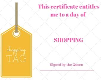 Cute reminder certificates for fun