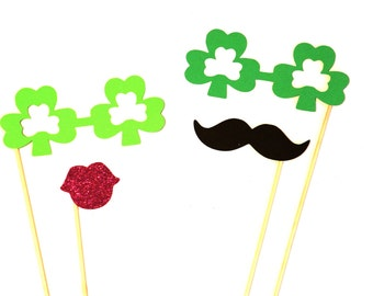 St. Patrick's Day Photo Booth Props - 4 piece prop set - Irish Photobooth Props