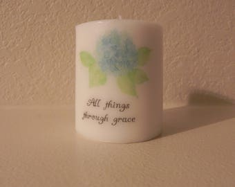 Custom Printed candle