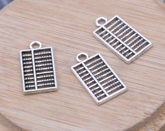 16 antique silver abacus, antique abacus pendant, abacus charm, alloy abacus necklace, Jewelry abacus drops 13x24mm