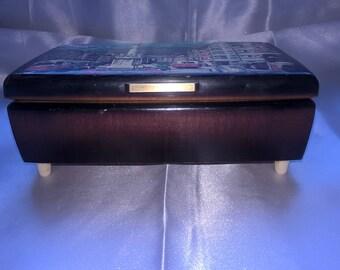 La-Vie-En-Rose-Vintage-French-Musical-Jewelry-Box
