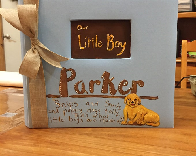 For the Love of Puppies and Sweet Baby Boys Baby Memory Book