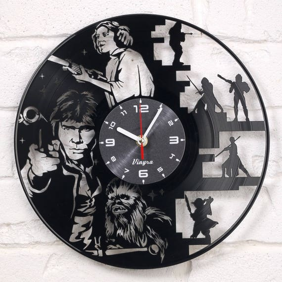 star wars vinyl wall clock record wall clock star war wall. Black Bedroom Furniture Sets. Home Design Ideas