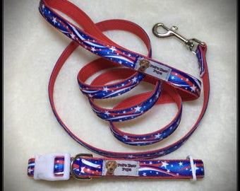 Medium Star Spangled Dog Collar