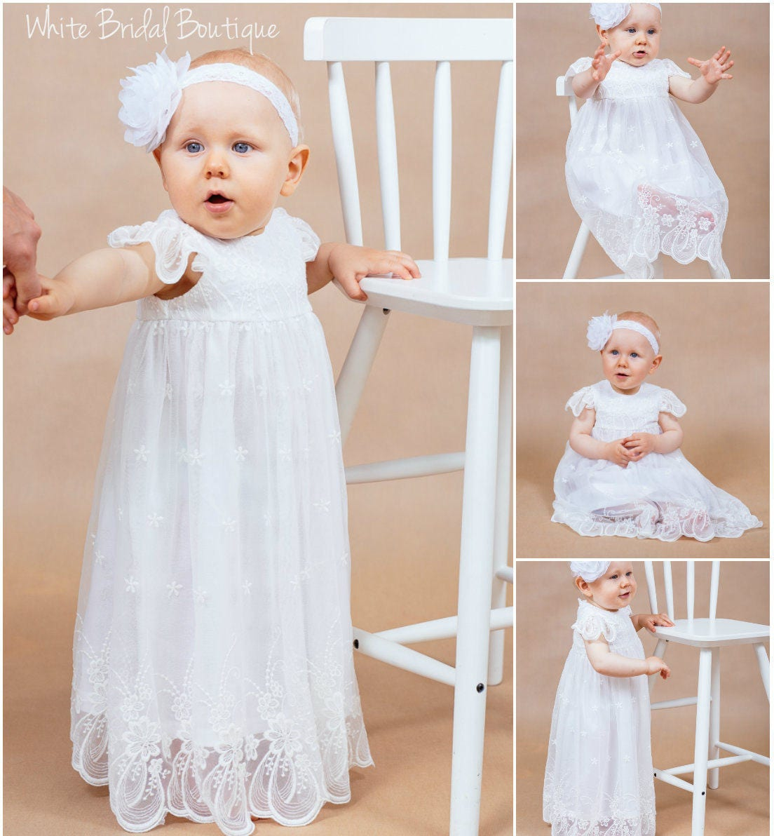 Baby lace dress Christening gown Baptism gown Baptism dress
