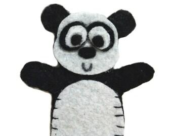 Panda Bear Felt Finger Puppet PDF Pattern Tutorial/ Zoo Animal Finger Puppet Digital Pattern