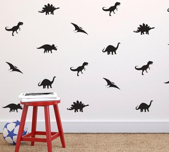 Tiny Dinosaurs Pattern Repeatable Wall Decal Custom Vinyl - Custom vinyl decals barrie