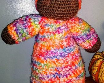 Bright SunSet Hand Crocheted Steiner Doll