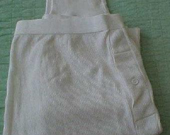 Zero Shipping Men's color off white Longjohns Large 1998 MINT Vtg