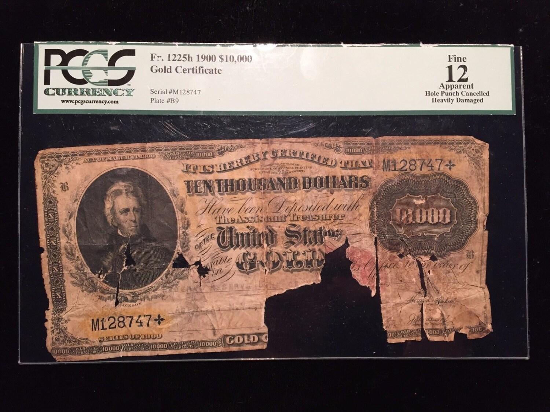 Fr1225h 1900 10000 gold certificate pcgs fine 12 ten thousand description fr1225h 1900 10000 gold certificate xflitez Choice Image