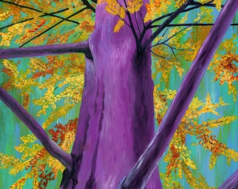 Purple Majesty - Tree Wall Decor, Tree Art Print, Tree Art, Purple Tree Wall Decor, Wall Art, Home Decor