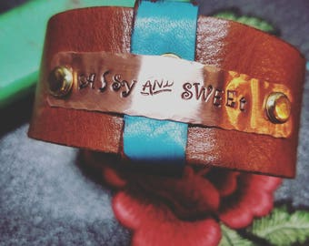 Sassy and Sweet leather CUFF
