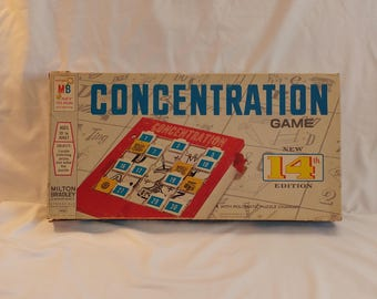 1970 Milton Bradley Concentration Game 14th Edition