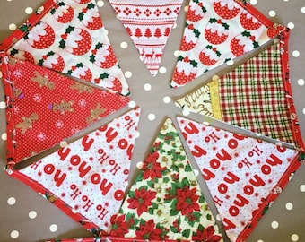 Christmas Bunting Festive Handmade 175cm