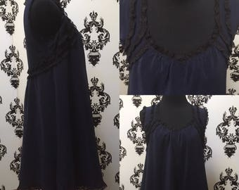 Midnight and Lace Babydoll Dress Sz S