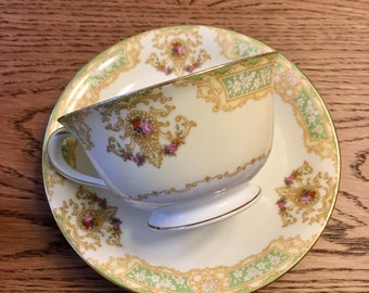 Noritake China Teacups with Saucers for Two